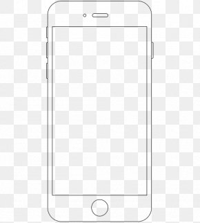 Apple Phone Frame - Line Angle Point Black And White PNG