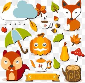 Autumn Vector Elements - Autumn Euclidean Vector Download Rain Child PNG