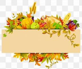 Thanksgiving Decor Clipart - Harvest Autumn Thanksgiving Clip Art PNG