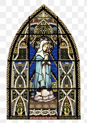Vector The Glass Of The Church - Stained Glass Window Church PNG