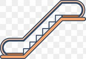 Orange Escalator - Stairs Escalator Elevator PNG