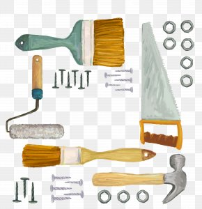 Vector Watercolor Painter Tools - Tool Carpenter Painting Euclidean Vector Sandpaper PNG