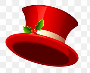 Christmas Top Hat Transparent Clipart - Santa Claus Christmas Hat Clip Art PNG