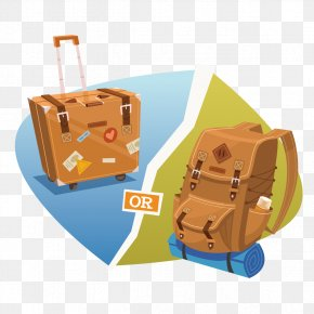 Vector Suitcase And Backpack - Adventure Travel PNG