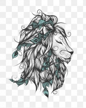 Lion - Lion Poetry Paper Printing Art PNG
