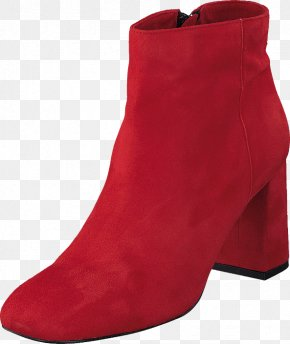 Red Twist - Suede Boot Shoe Pump PNG