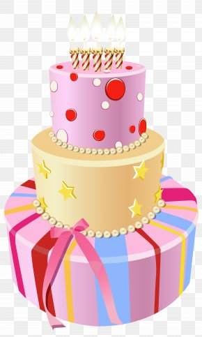 Pink Birthday Cake Clipart Image - Birthday Cake Clip Art PNG