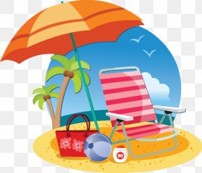 Beach Chairs - Beach Umbrella Clip Art PNG