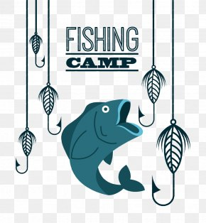 Cartoon Fish - Fish Hook Fishing PNG
