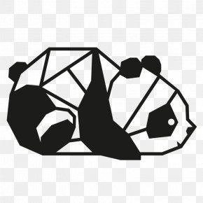 Bear - Giant Panda Bear Geometry Wall Decal Sticker PNG
