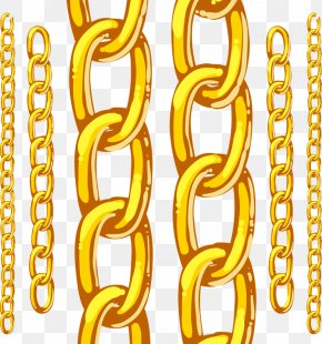 Gold Chains - Chain Adobe Illustrator Gold PNG