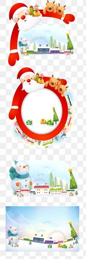 Santa Claus Decorative Borders Vector Material - Santa Claus Christmas Euclidean Vector Illustration PNG