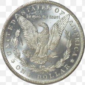 Silver Dollar Eucalyptus - Coin Morgan Dollar Silver Quarter United States Dollar PNG