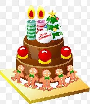 Vector Cartoon Cake - Christmas Cake Birthday Cake Cupcake Clip Art PNG
