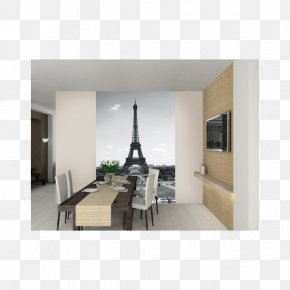 Eiffel Tower - Eiffel Tower Mural Wall Decal Interior Design Services PNG