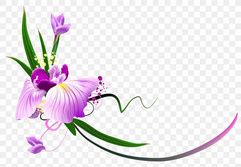 Flower Purple Floral Design Clip Art, PNG, 3790x2642px, Flower, Color, Cut Flowers, Flora, Floral Design Download Free
