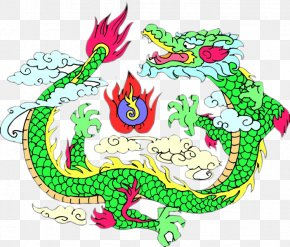 Green Dragon - Chinese Dragon Fenghuang Azure Dragon Motif Clip Art PNG
