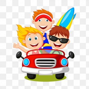 Cartoon Characters Driving A Ride Of The Brothers - Cartoon Driving Illustration PNG