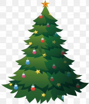Christmas Tree Decorated With Colorful Lights - Christmas Tree PNG