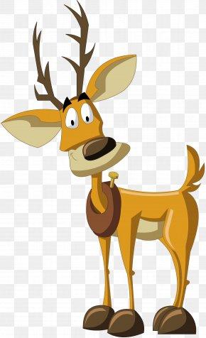 Reindeer - Reindeer Santa Claus Christmas PNG