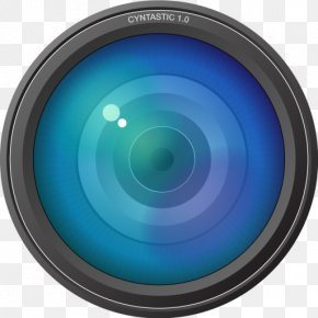 Electric Blue Turquoise - Camera Lens PNG