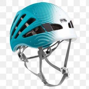 Helmet - Petzl Climbing Helmet Mountaineering Headlamp PNG