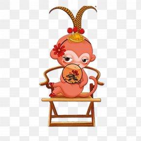 Cartoon Monkey - Monkey Chinese New Year Papercutting Chinese Zodiac PNG