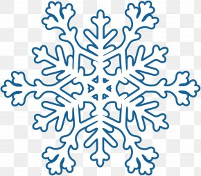 Creative Blue Snowflake Winter - Snowflake Winter PNG