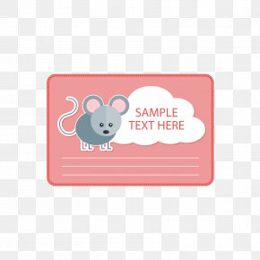 Red Mouse Text Box - Computer Mouse Red Text Box PNG