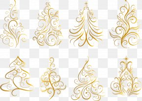 Bronzing Christmas Tree Vector Material - Christmas Tree Euclidean Vector PNG