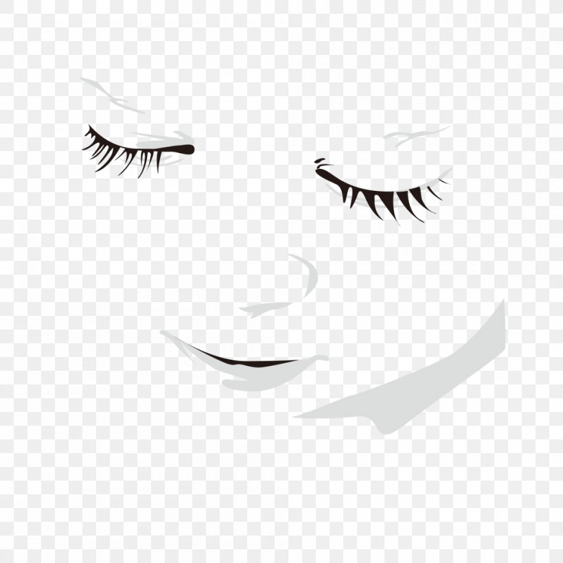 Face Euclidean Vector, PNG, 1000x1000px, Face, Area, Black And White, Cutlery, Monochrome Download Free
