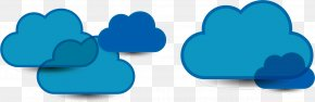Clouds Vector - Turquoise Wallpaper PNG