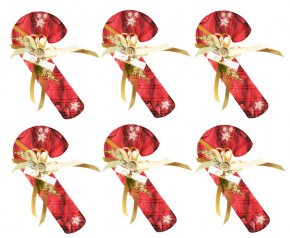 Candy Graphics - Candy Cane Christmas Gift Clip Art PNG
