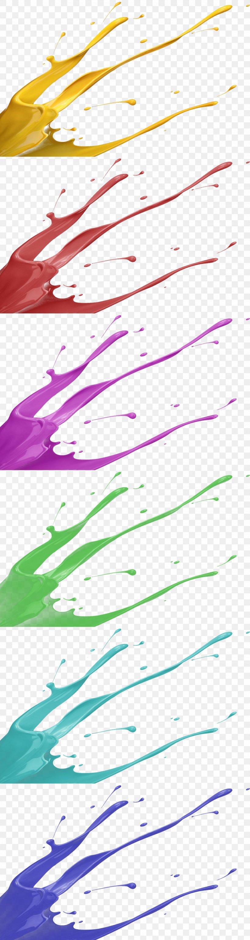 Color Splash, PNG, 1920x7198px, Color, Aerosol Paint, Area, Diagram, Ink Download Free