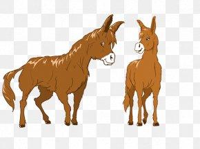 Poitou Donkey - Mule Foal Cattle Mustang Donkey PNG