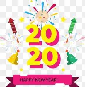 Confetti Celebrating - 2020 Happy New Year 2020 Happy New Year PNG