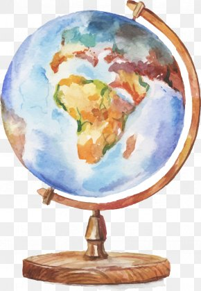 Drawing Globe - Globe Watercolor Painting Drawing Illustration PNG