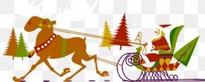 Hand-painted Santa Claus Elk Element - Santa Claus Reindeer Christmas Illustration PNG