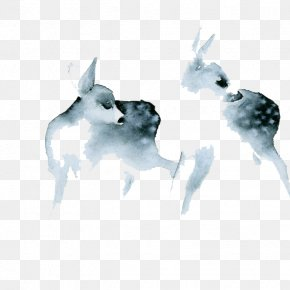 Watercolor Deer - Watercolor: Animals Watercolor Painting Printmaking Work Of Art PNG