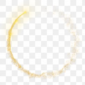 Particle Circle - Yellow Pattern PNG
