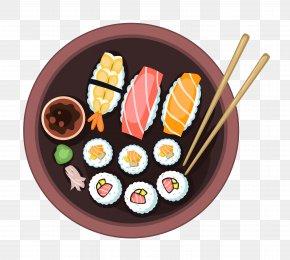 A Sushi - Sushi Japanese Cuisine French Fries Sashimi Dish PNG