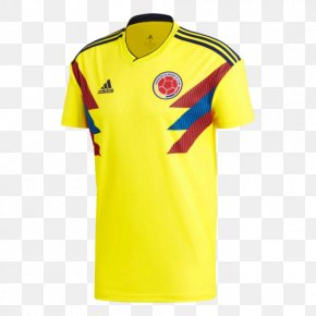 T-shirt - 2018 FIFA World Cup Colombia National Football Team T-shirt Jersey Adidas PNG