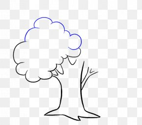 Tree - Drawing Cartoon How To Draw Trees Clip Art PNG