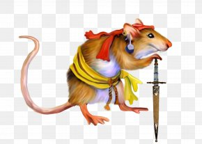 Pirate Mouse - Piracy Clip Art PNG