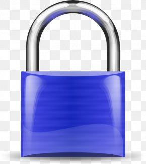 Padlock Cliparts - Padlock Combination Lock Blue Key PNG