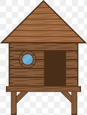 Simple Log Cabin - Log Cabin Cartoon PNG