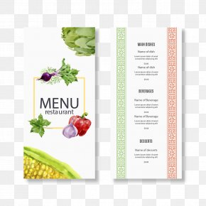 Painted Vegetable Restaurant Menu - Menu Restaurant Euclidean Vector Food PNG