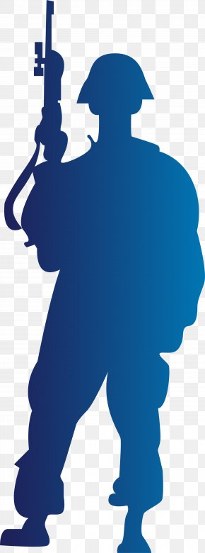 Blue Brief Soldier - Soldier Royalty-free Silhouette Stock Illustration PNG