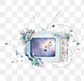 Watercolor TV Set - How To Paint With Watercolors Watercolor Painting Television PNG