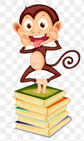 A Monkey With A Tongue - Three Wise Monkeys Ape Illustration PNG